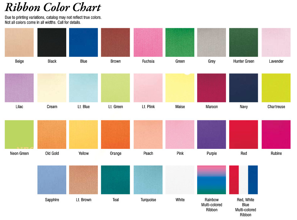 color charts promotional items more