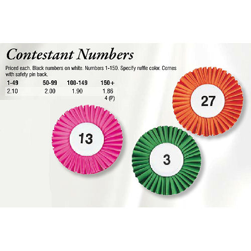 Contestant Numbers Archives - Promotional Items & More