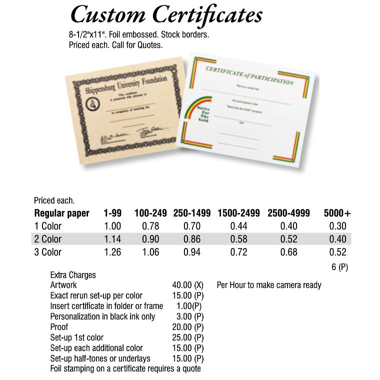 Custom Certificates Archives Promotional Items More