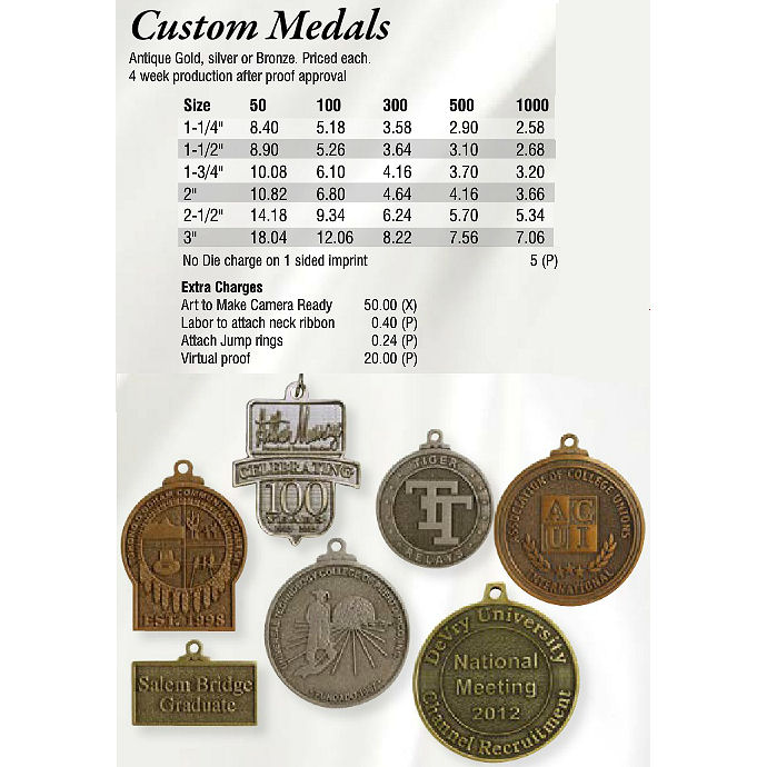 Custom Medals - Promotional Items & More