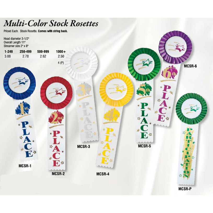 Multi-Color Stock Rosettes Archives - Promotional Items & More